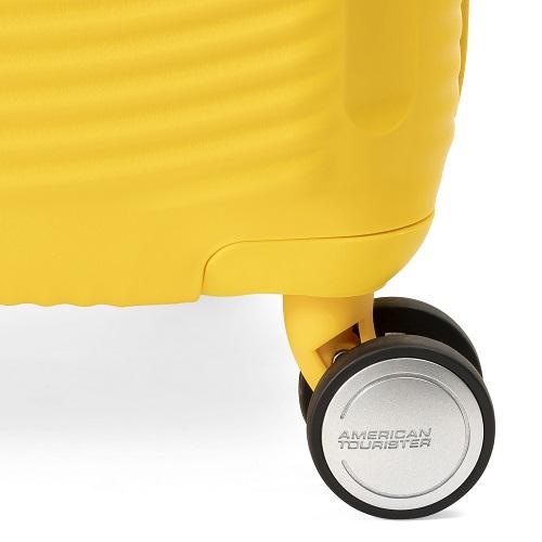 [1-3泊] アメリカンツーリスター サウンドボックス スピナー エキスパンダブル 35/41L ゴールデンイエロー 4輪 AMERICAN TOURISTER